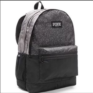 New Vs Pink Campus Backpack Black Gray Marl